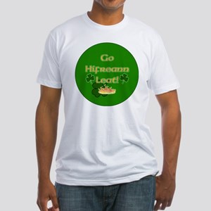 TO-HELL-WITH-YOU-BUTTON Fitted T-Shirt
