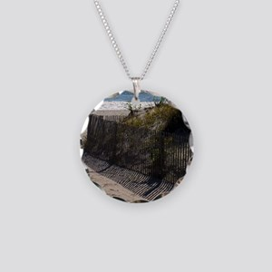 dune shadows Necklace Circle Charm