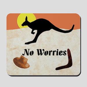 Kagaroo Jillo, No Worries Mousepad