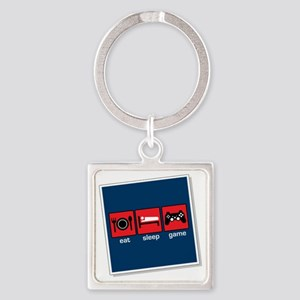 10year Square Keychain