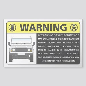 Rover Occupant Advisory Sticker Sticker