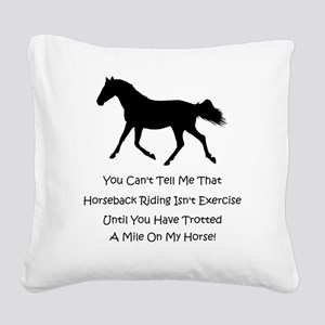 exercise_home_decor Square Canvas Pillow