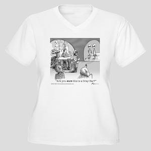 Cantina Women's Plus Size V-Neck T-Shirt