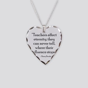 Teaching Eternity Black Necklace Heart Charm