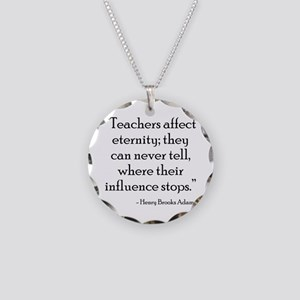 Teaching Eternity Black Necklace Circle Charm