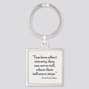 Teaching Eternity Black Square Keychain
