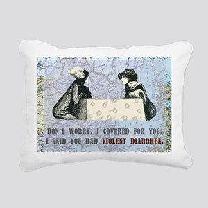newCard violent diarrhea Rectangular Canvas Pillow