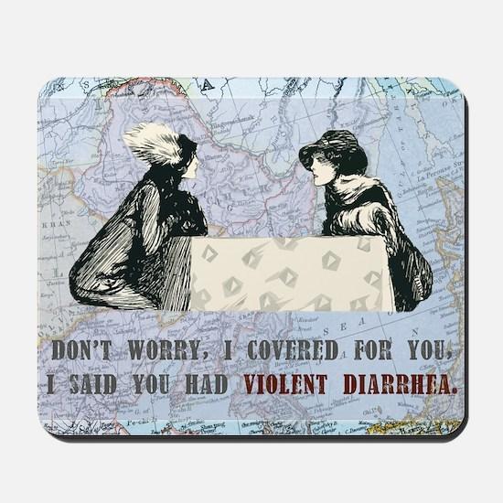 newCard violent diarrhea Mousepad
