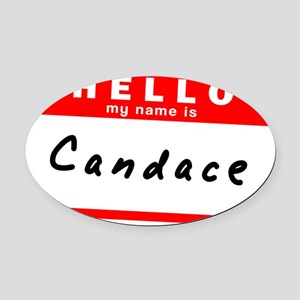 Candace Oval Car Magnet