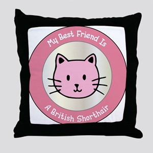 Friend Shorthair Throw Pillow