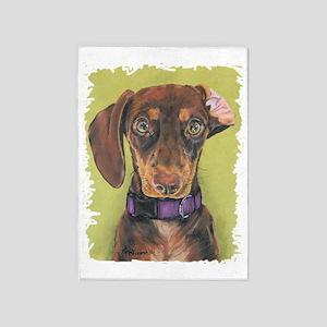 dachshundportrait 5'x7'Area Rug
