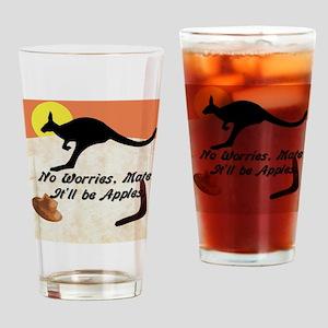 Kagaroo Jillo, No Worries Mate Drinking Glass