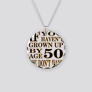 1 Age 50 Necklace Circle Charm