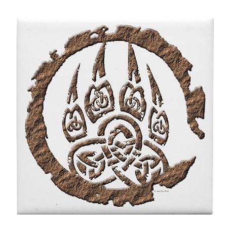 Celtic Stone: Bear Paw Tile Coaster