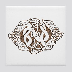 Celtic Stone: Guardian Dogs Tile Coaster