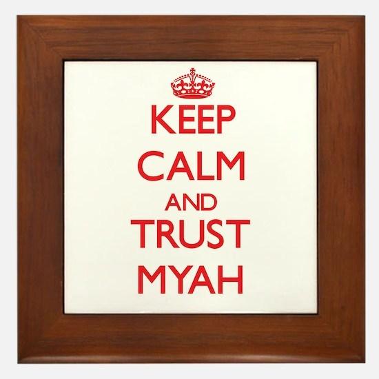 Keep Calm and TRUST Myah Framed Tile