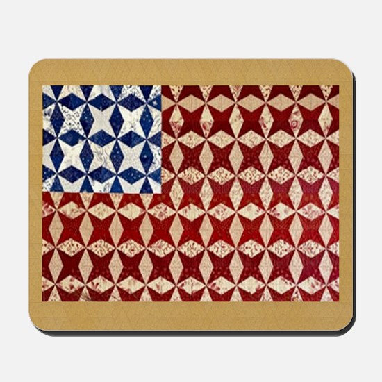 Patrotic USA  quilted flag  note card Mousepad