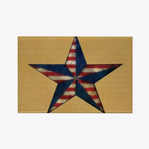 Patrotic USA  star flag  note car Rectangle Magnet