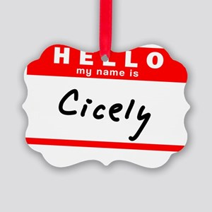 Cicely Picture Ornament
