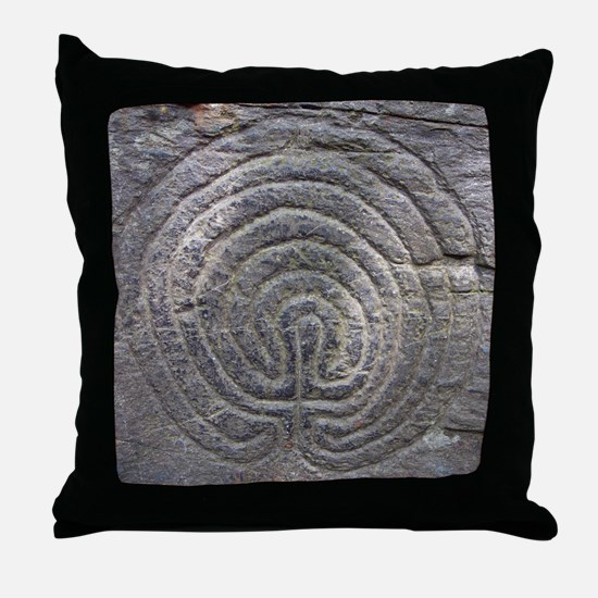 LabyrinthSquareForCP Throw Pillow