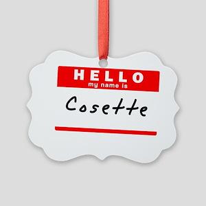 Cosette Picture Ornament