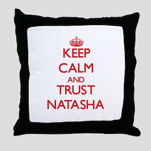 Keep Calm and TRUST Natasha Throw Pillow