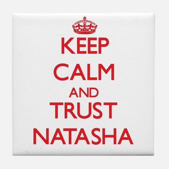 Keep Calm and TRUST Natasha Tile Coaster