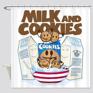 Milk_and_cookies Shower Curtain