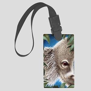 Koala Peeking (ipad 2 folio cove Large Luggage Tag