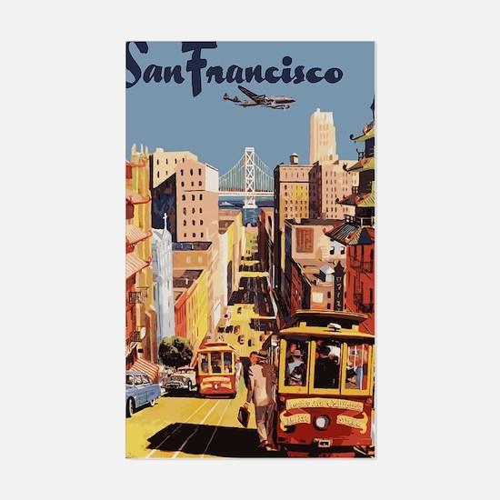 sanfranciscoOriginal1postcard. Sticker (Rectangle)