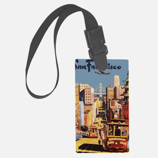 sanfranciscoOriginal1postcard.gi Large Luggage Tag