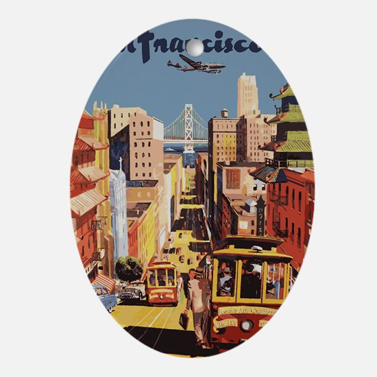 sanfranciscoOriginal1postcard.gif Oval Ornament