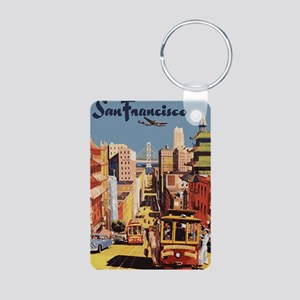 sanfranciscoOriginal1postc Aluminum Photo Keychain