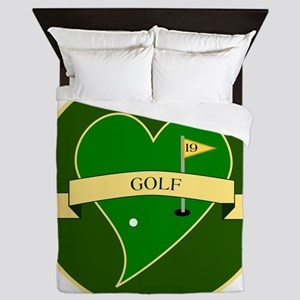 Love Heart Golf Queen Duvet