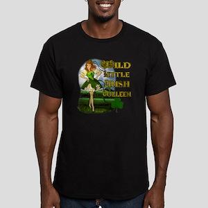 WILD-LITTLE-IRISH-COLL Men's Fitted T-Shirt (dark)