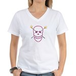 Born 2 knit Women's V-Neck T-Shirt