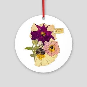 C R Mackintosh Petunias Ornament (Round)