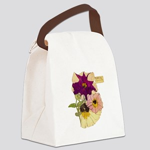 C R Mackintosh Petunias Canvas Lunch Bag