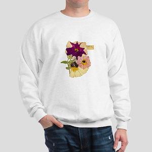 C R Mackintosh Petunias Sweatshirt