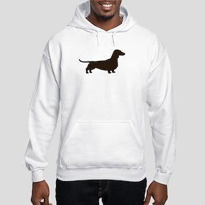 Dachshund Silhouette Hooded Sweatshirt