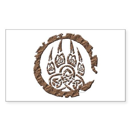 Celtic Stone: Bear Paw Rectangle Sticker