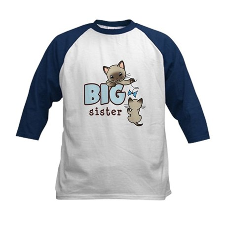 Big Sister (Kitty) Kids Baseball Jersey
