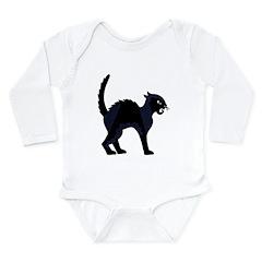 Black Cat - Long Sleeve Infant Bodysuit