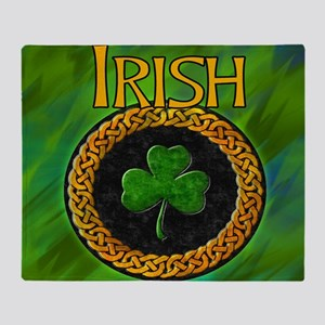 CELTIC-IRISH-SHAMROCK-MOUSEPAD Throw Blanket