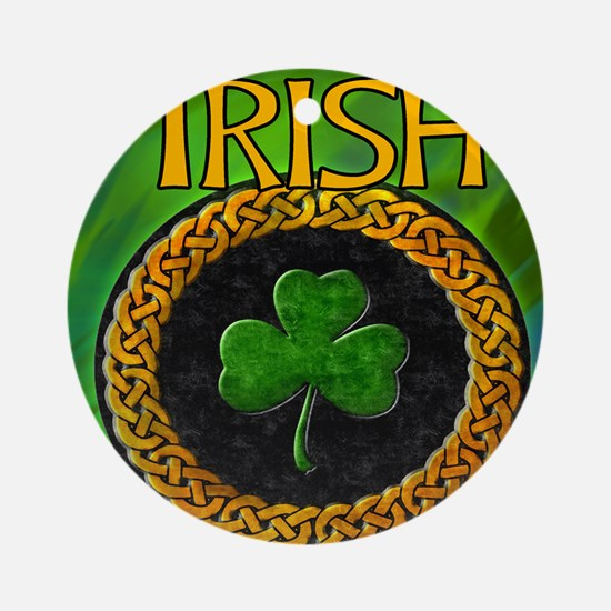 CELTIC-IRISH-SHAMROCK-MOUSEPAD Round Ornament