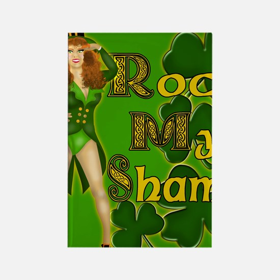 ROCK-MY-SHAMS-IRISH-MOUSEPAD Rectangle Magnet