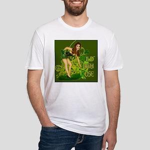WILD-IRISH-ROSE-MOUSEPAD Fitted T-Shirt