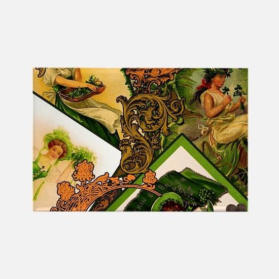 VINTAGE-IRISH-LADIES-MOUSEPAD Rectangle Magnet