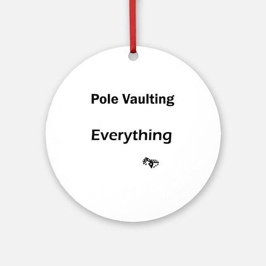 pole vault1 Round Ornament