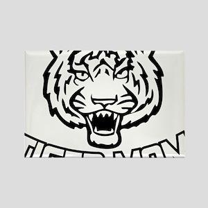 Tiger mom Rectangle Magnet